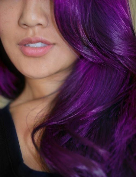 purple hair teenager