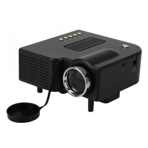 Vigrand Projector 80 Ansil Lumens Multimedia LED LCD Portable Black Projector with Music Photos Videos Compatible with Smart Phone for Iphone