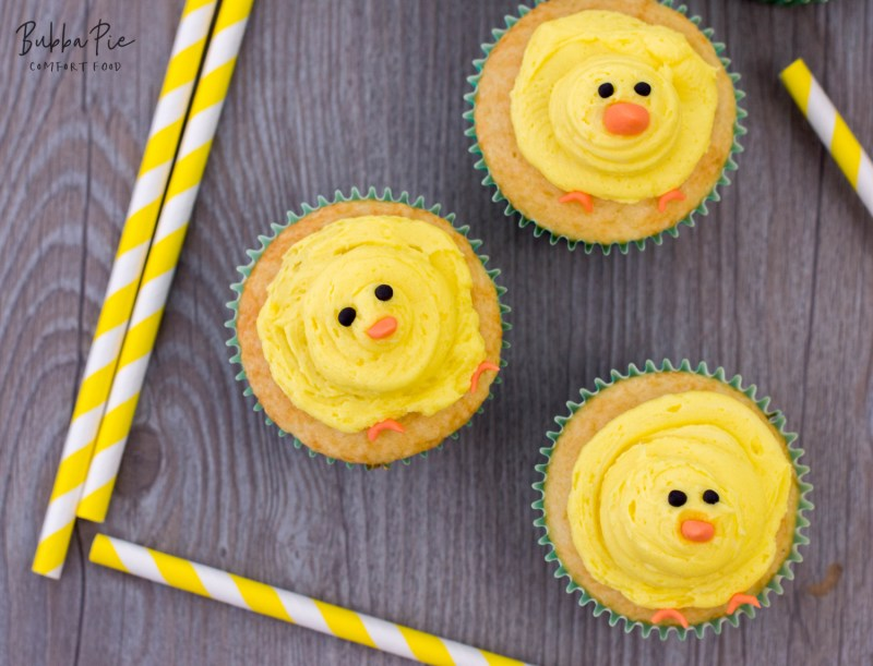baby chick cupcakes with homemade buttercream frosting are a great holiday treat