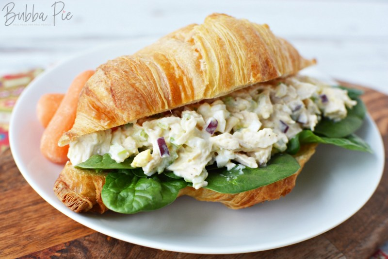 Southern Chicken Salad on a soft buttery baked croissant