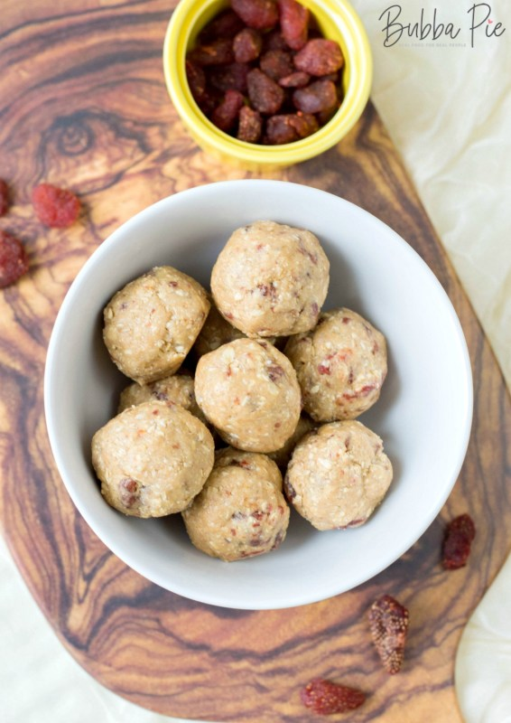 Strawberry Energy Balls Recipe has almond flour, rolled oats, honey and peanut butter