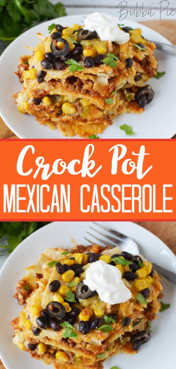 crockpot mexican casserole