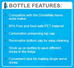 500ml Drinkmate bottle for soda and sparkling juice on the go