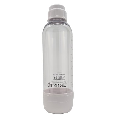 bubble-bro - picture of white large Drinkmate bottle with cap on