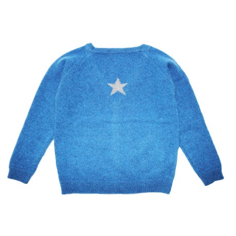 Blue Small Star Cardigan