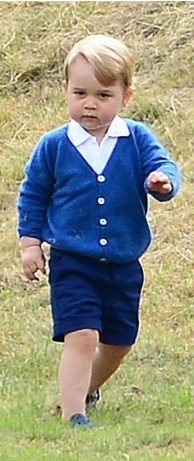 Prince George in the blue cashmere cardigan