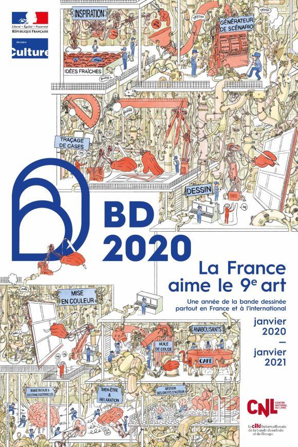 Affiche officielle BD2020  © Joseph Falzon / Ministère de la Culture