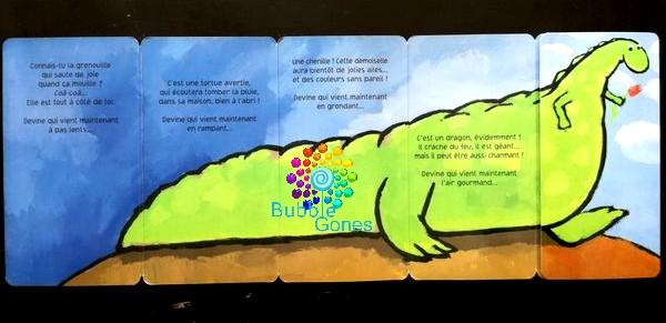 lecture enfantine grenouille qui se transforme en dragon