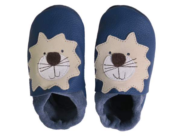 blue lions baby leather shoes