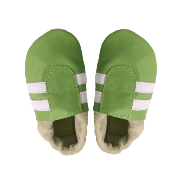 green white sport baby leather shoes