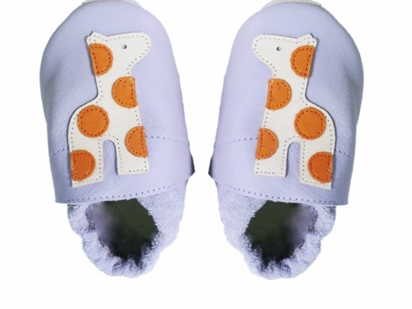 grey giraffe baby leather shoes