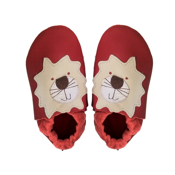 Red lions baby leather shoes