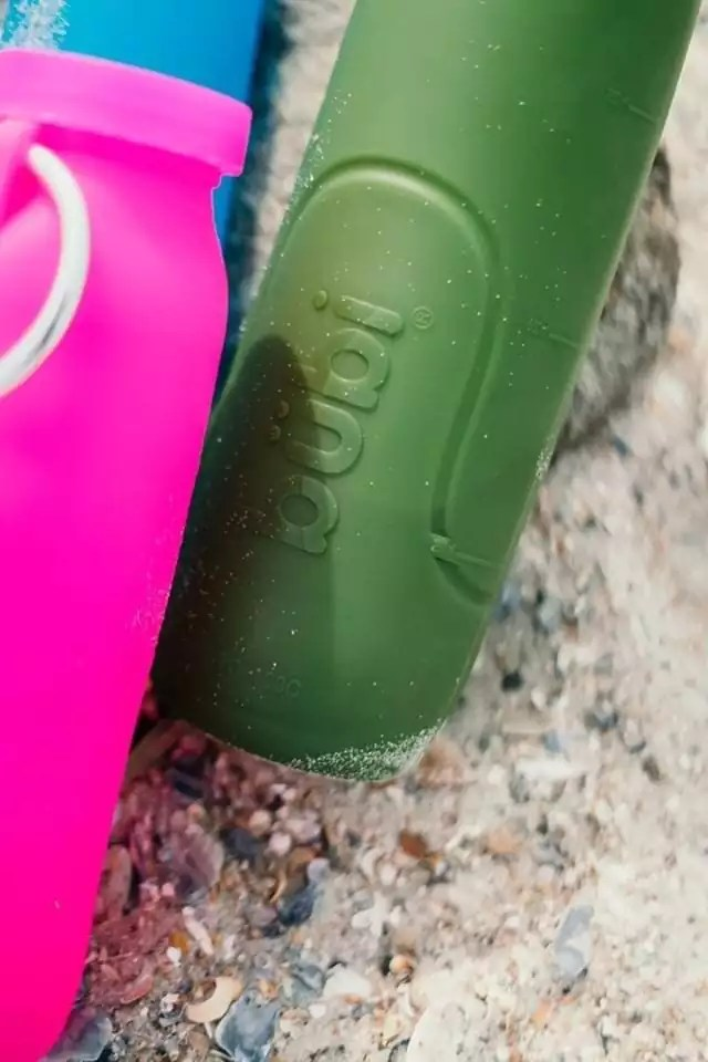 Bubi Bottle, Beach, Silicone water bottle, collapsible bottle,