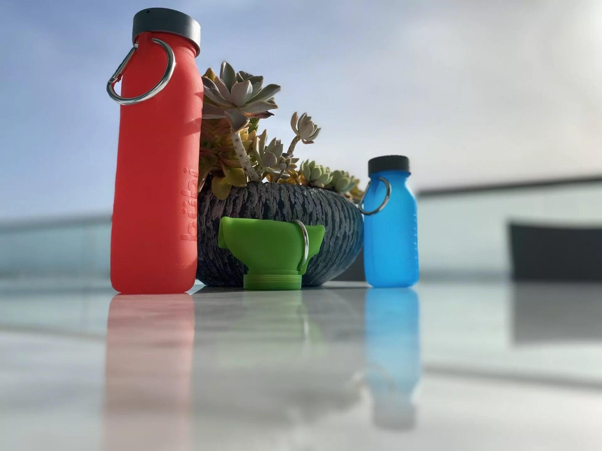 Silicone bottles, lifestyle, eco-friendly