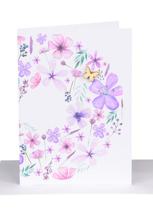 Purple Flowers Card