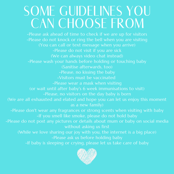 new baby guidelines tips