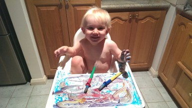 Highchair Painting