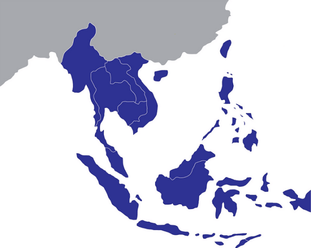 ASEAN countries' locations