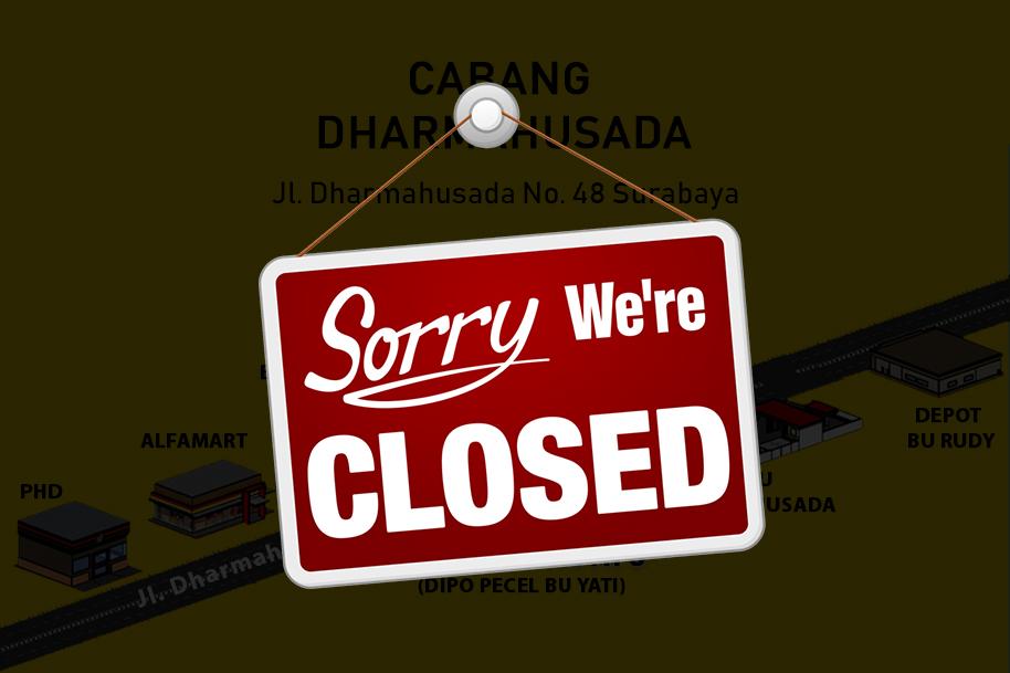 Cabang Dharmahusada Berhenti Beroperasi