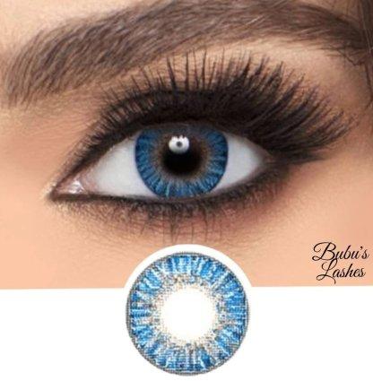 True Sapphire coloured contact lenses