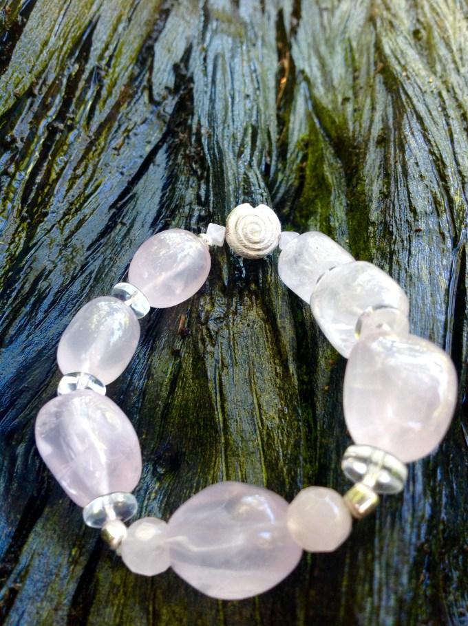 bransoletka od Marii bucardi kwarc rozowy1