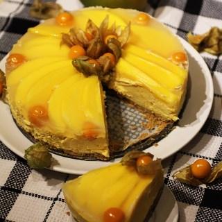 Cheesecake cu dovleac copt si mango. Un desert inedit.