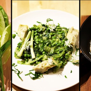 Mancarica de mazare. Mazare cu salata verde si leurda.