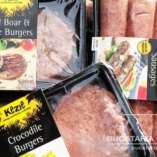 Hamburgeri din carne de crocodil, mistret si carnati de caprioara. Buni?