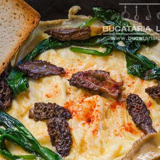 omleta cu zbarciogi omleta cu leurda