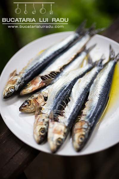 sardine la grill preparare
