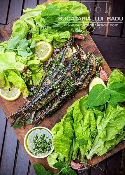 sardine la grill cu sos gremolata reteta