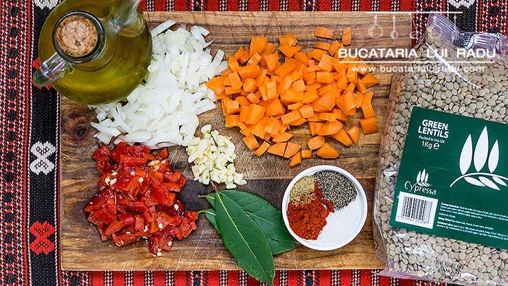 linte cu carnati ingrediente