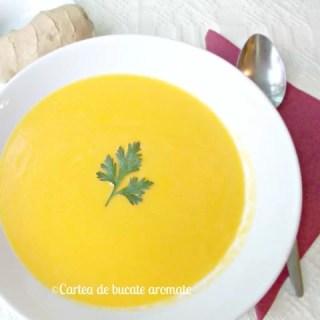 Supă-cremă de morcov cu ghimbir