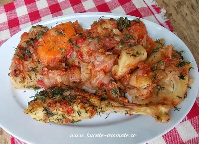 mâncare de ţelină şi morcovi