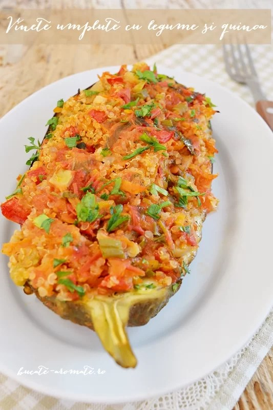Vinete umplute cu legume şi quinoa
