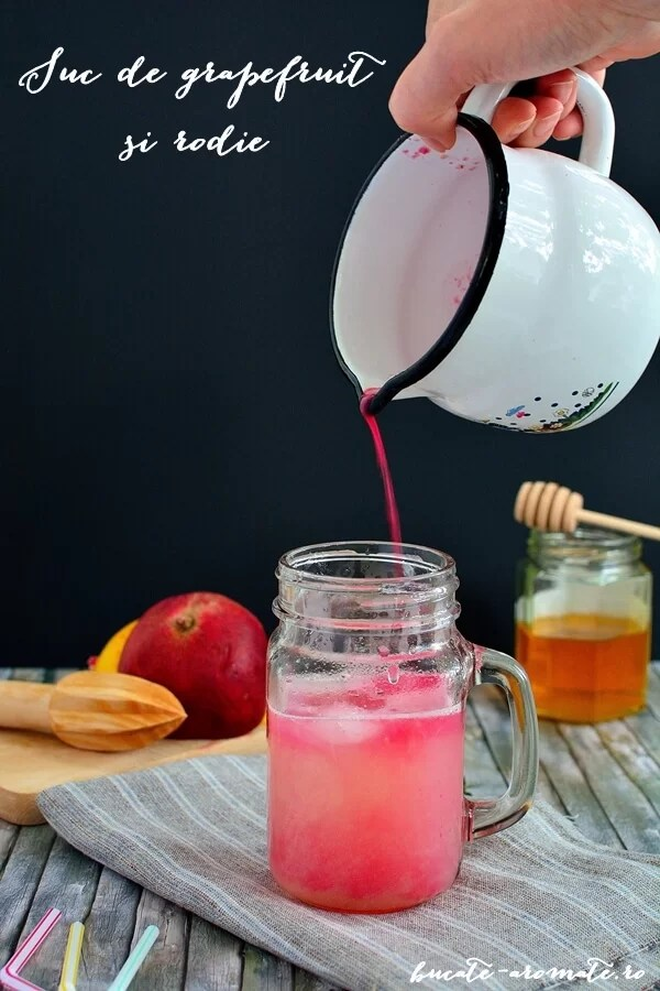 Suc de grapefruit şi rodie