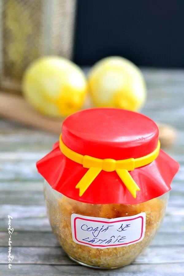 Coajă de lămâie la borcan - aroma prăjiturilor de altădată