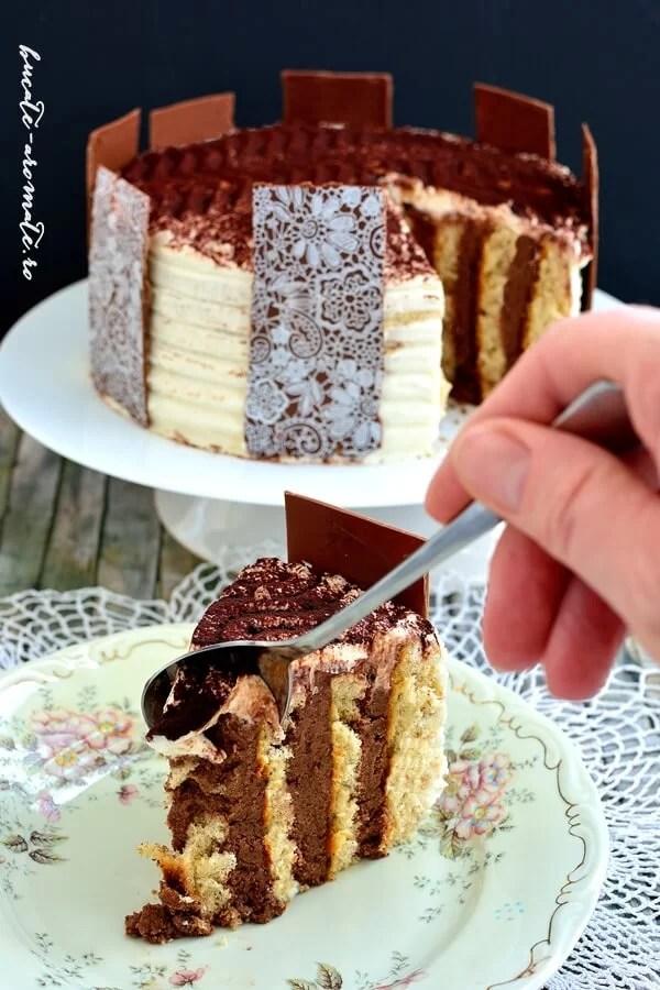 Tort spirală cu cremă de ciocolată