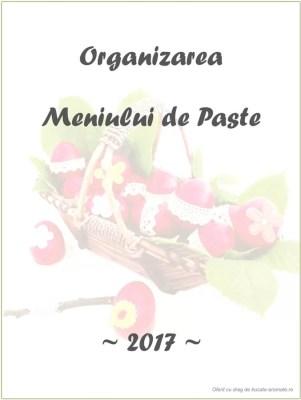 Organizarea meniului de Paste
