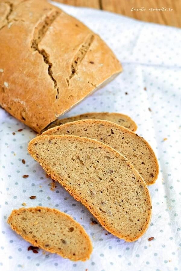 Pâine de secară cu seminţe de in