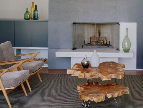 Тенденции в дизайне интерьера - натуральные материалы и природные текстуры.