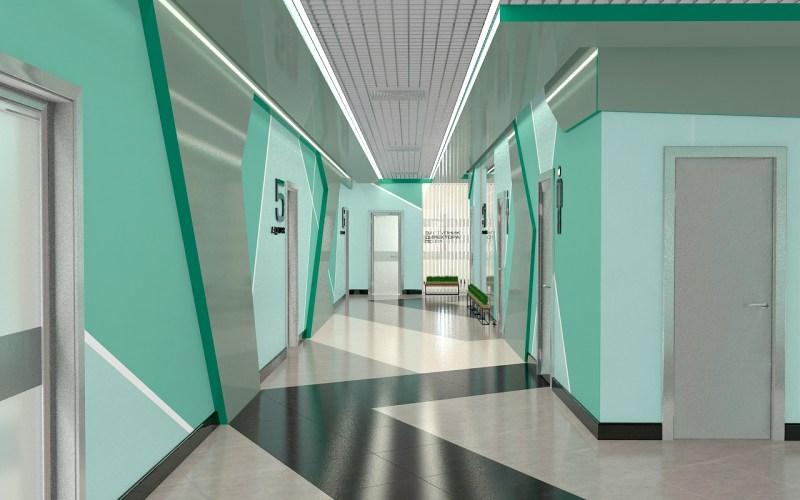 Дизайн коридора в лицее 02