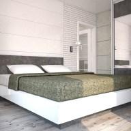 Дизайн спальни в стиле лофт. Дизайн интерьера, г. Буча