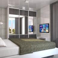 Дизайн интерьера, г. Буча. Дизайн спальни в стиле лофт.