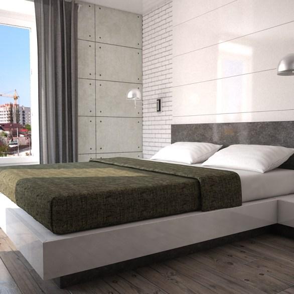 Светлая спальня в стиле Loft
