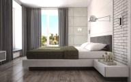 Светлая спальня в стиле Loft 02