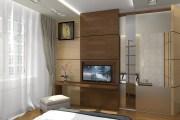 """Дизайн спальни в современном стиле. Гардеробная комната в спальне. Киев, ЖК """"Французский квартал"""""""