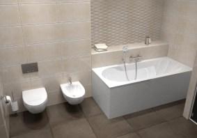 Дизайн ванной, г. Киев. Размещение сантехники.