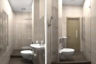 Гостевой санузел в трехкомнатной квартире, г. Киев. Дизайн проект.