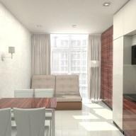 Дизайн кухни в однокомнатной квартире в Киеве